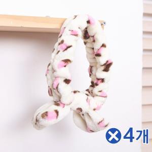 세안용품 핑크호피 세안밴드x4개 세수머리띠 사계절