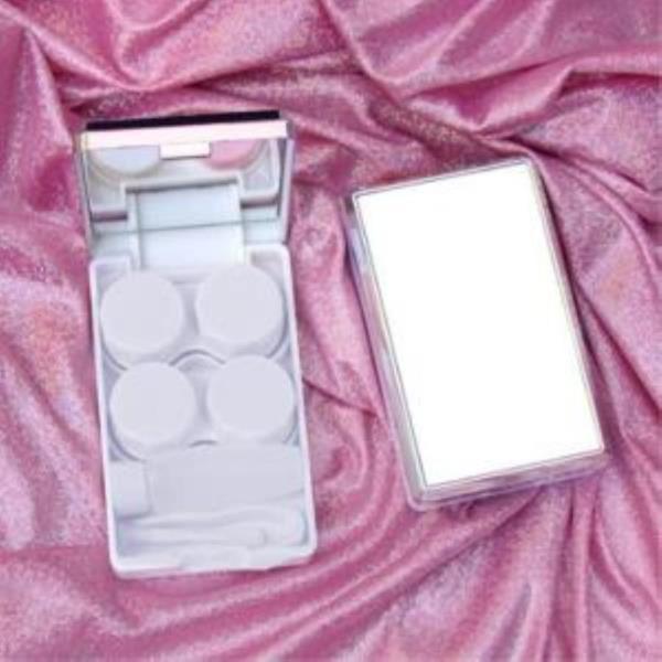 휴대용 거울 렌즈케이스-골드 렌즈보관함 렌즈집