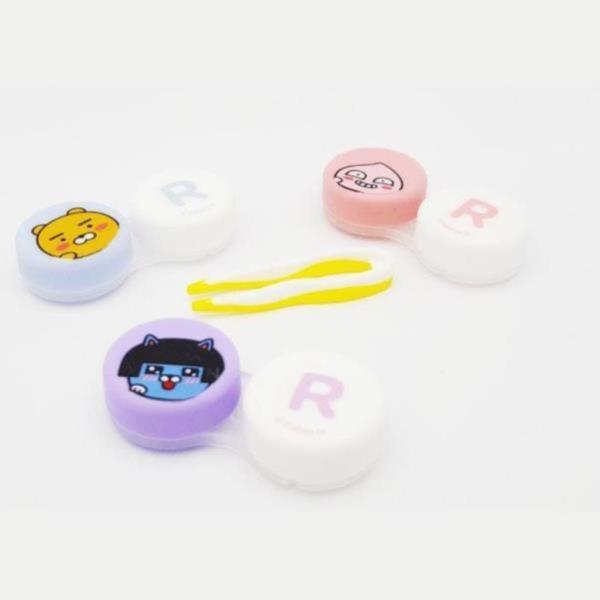 카카오프렌즈 렌즈케이스 3종 렌즈파우치 여행필수품