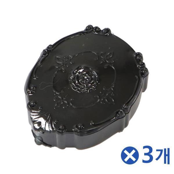 고급 장미 렌즈케이스 블랙 렌즈파우치 렌즈보관