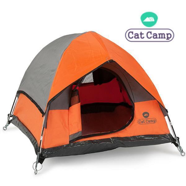 캣캠프 캣텐트 오렌지-고양이하우스강아지집