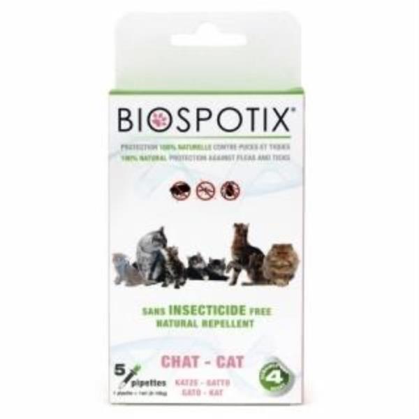 고양이용 5P 해충방지 진드기 모기 기피제 바이오스팟틱스 천연성분 스팟온