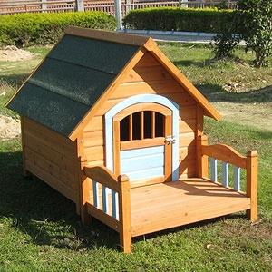 강아지 애견 대형견 대형사이즈 편백나무 야외 원목 하우스 나무 집