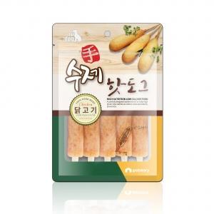 강아지 수제 닭고기 핫도그 비만방지 껌 소세지 소시지 100그램 100개입 애견 간식