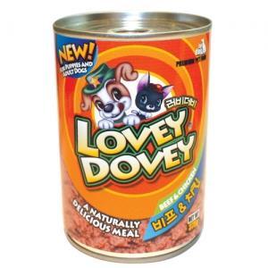 임신견 수유견 노령견 강아지 비타민 닭고기와 소고기 375그램 24개입 캔 간식 통조림