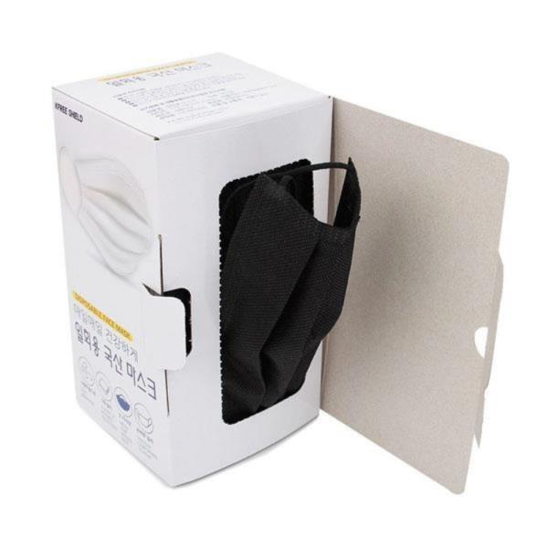 케이 3중구조 일회용마스크50매입 블랙