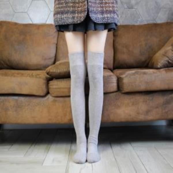 삭스 내담쇼핑몰 조임 없는 무압박 양말 여자 학생 긴목 긴양말 롱삭스 스타킹 오버니삭스 겨울용 2종