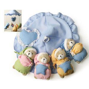 HI 하트곰돌이 칼라모빌 오르골포함 아기모빌 멜로디인형 봉제인형 유아용품