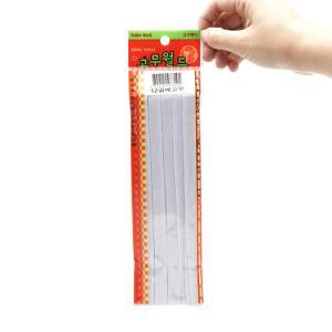 파일철 선물포장 골베고무줄 1.2cm x 1.4m 백색10봉