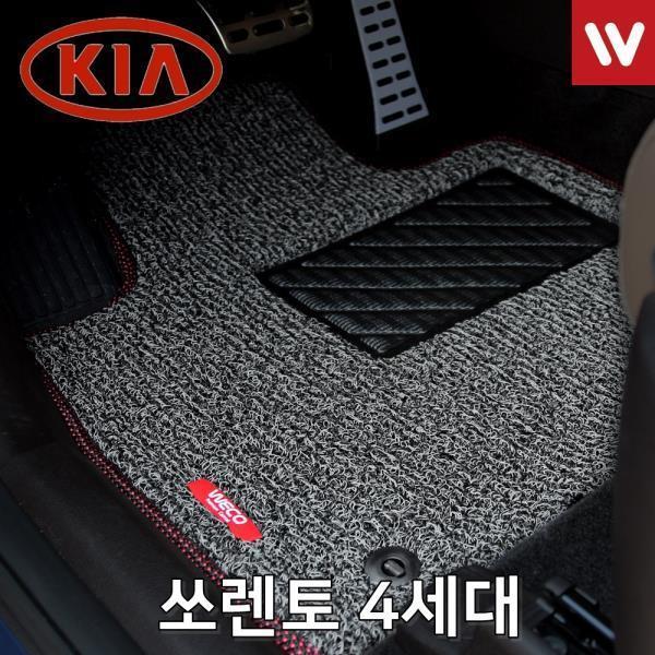 바닥매트 쏘렌토 4세대 차량용 발판 매트 뒷좌석