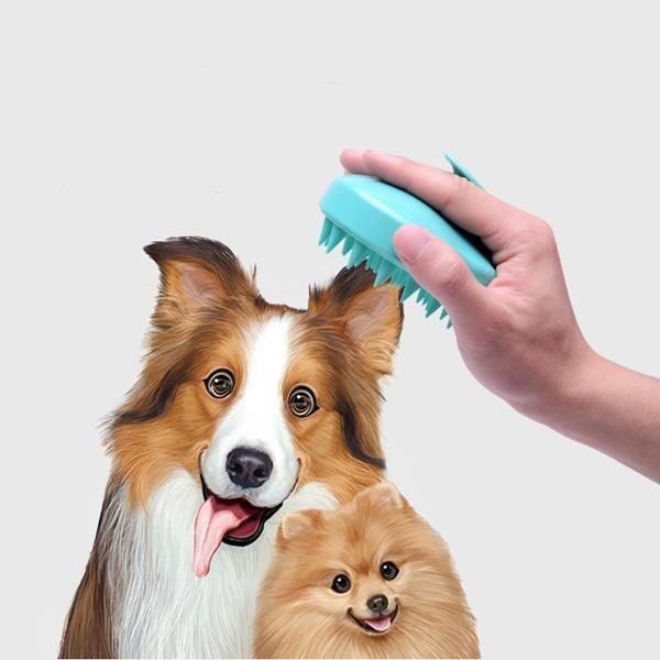강아지 고양이 애견 목욕 미용 털관리 죽은털 제거 브러쉬 실리콘 빗