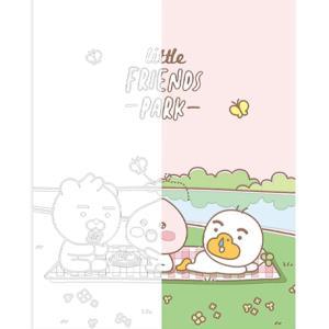 DIY 그리기 페인팅 리틀프렌즈 소풍-핑크 40X50