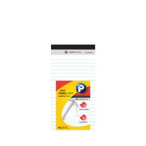 프린텍 LP89W 리갈패드스티키 백색40매 수첩 89x173mm
