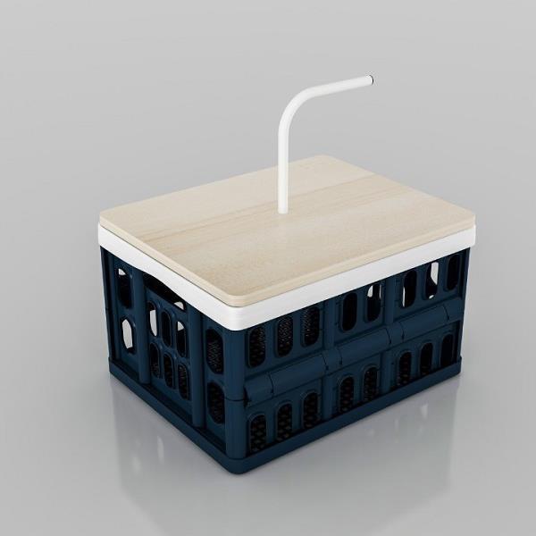 SV 다용도 폴딩수납함 손잡이 테이블