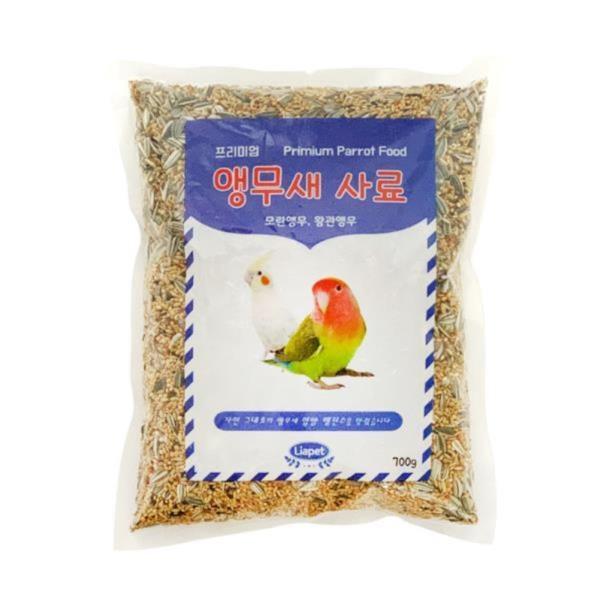 리아펫 모란, 왕관 앵무새 먹이 700g 새 사료 모이 밥