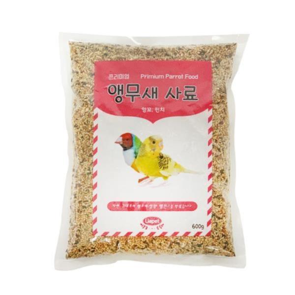 리아펫 잉꼬, 핀치 앵무새 먹이 600g 새 사료 모이 밥