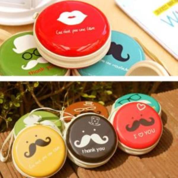 콧수염 마카롱 동전지갑 (랜덤발송)
