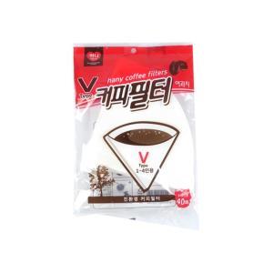 하니 브이형 커피 필터 40매