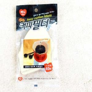 하니-커피필터(2-5인용)40매 - 2EA 커피필터 드립용품