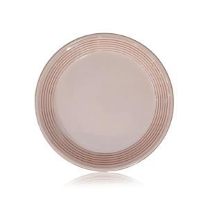윤도자기 반찬접시 앞접시 15cm 분홍