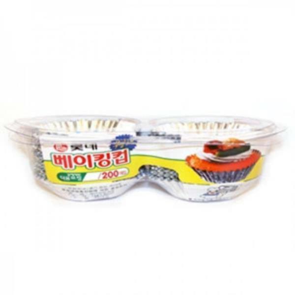롯데 베이킹컵 47x25mm 90개 은박용기 제빵용컵