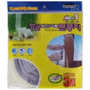 PVC 발포수지문풍지 이스타문풍지 (15mmX3m)