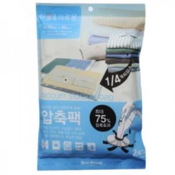 And House 이불압축팩 의류압축팩 (90x86cm) 2매입