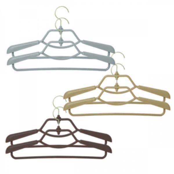 파스텔 회전형 길이조절옷걸이 슬라이드옷걸이 2P