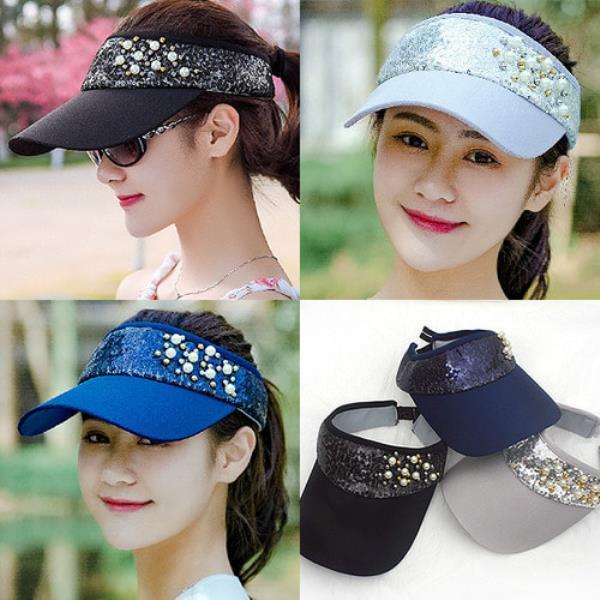 비즈 진주 썬캡[S859]모자 여름모자
