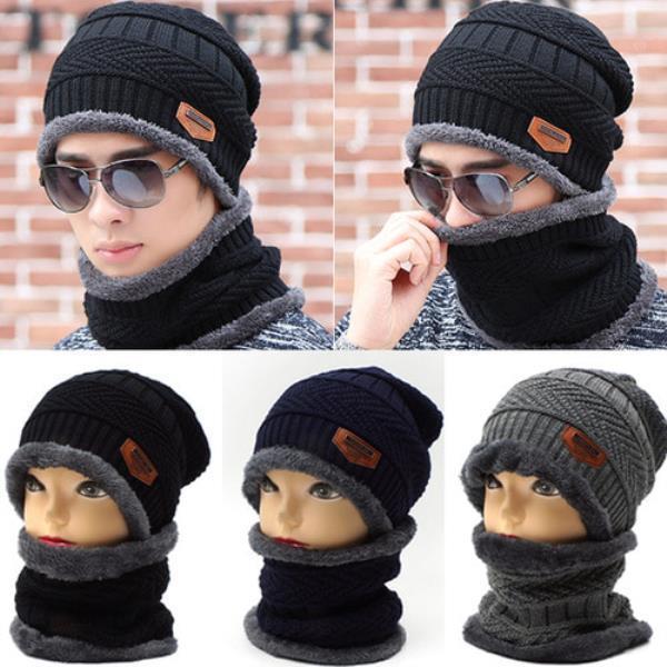 니트짜임 털비니넥워머세트[S996-와펜]모자