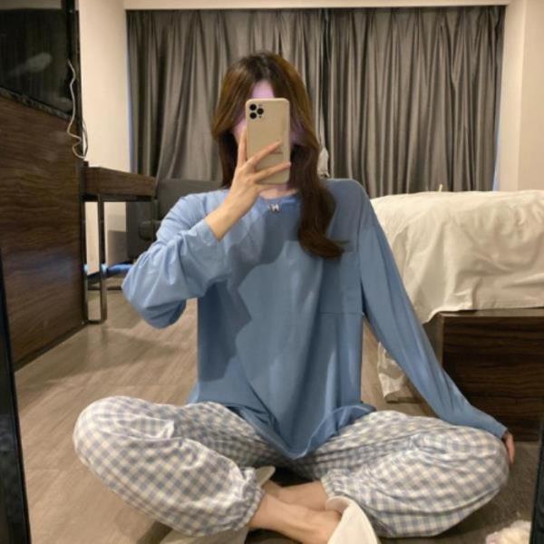 MA8004 체크 파자마세트 잠옷 여성 봄 가을