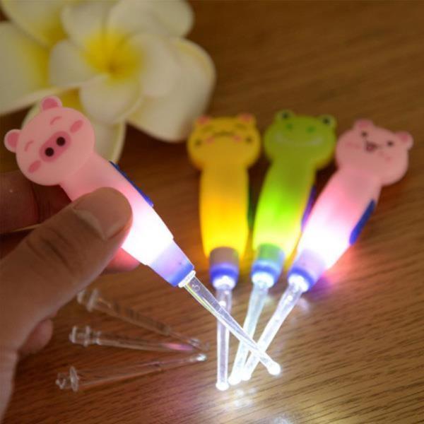 유아용귀이개 LED 라이트 동물 귀이개