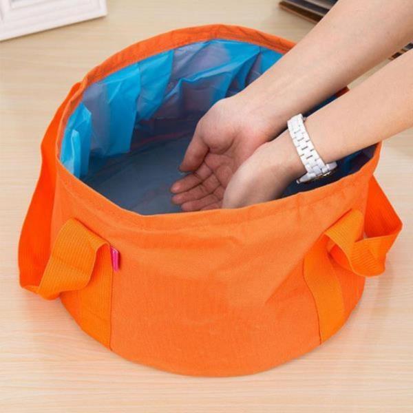 캠핑용 접이식 설거지통(오렌지)