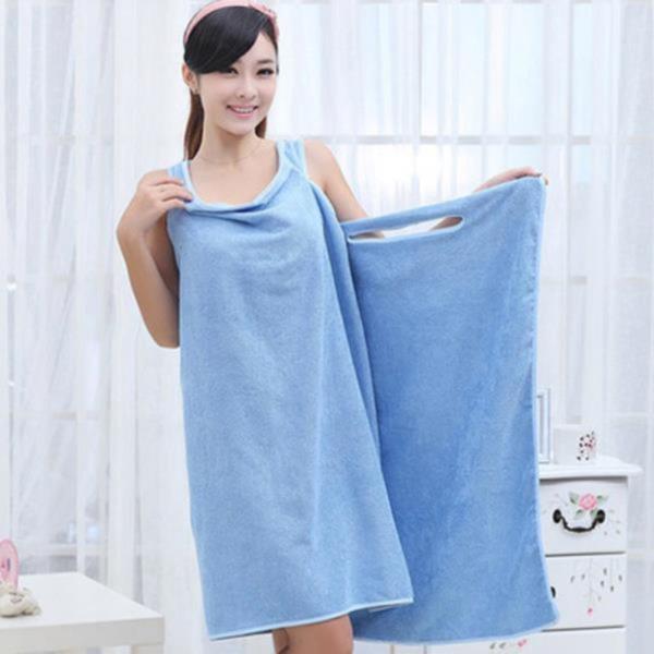 원피스형 샤워 가운(블루)