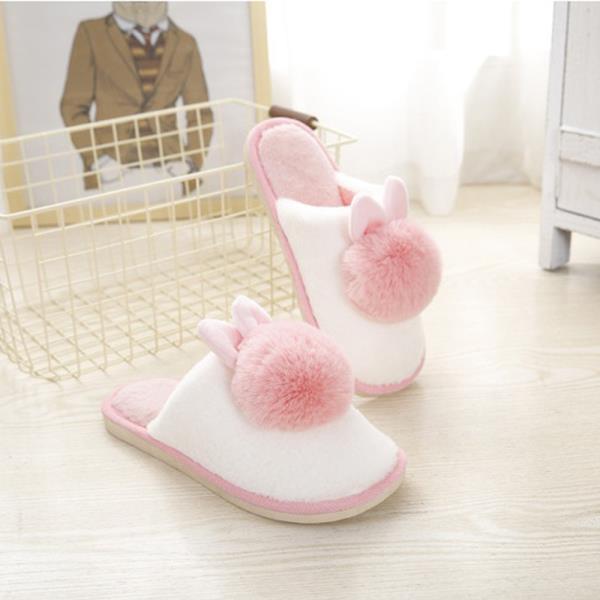겨울용 토끼털 실내화(소프트 핑크,250mm)