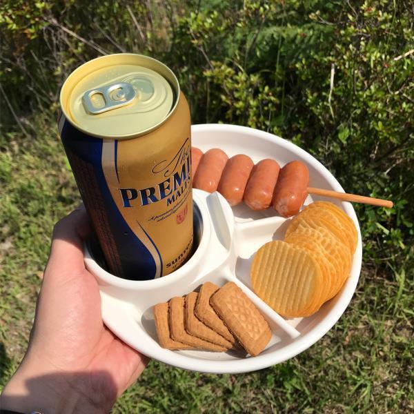 일본 이노마타 캠핑용 바베큐 접시