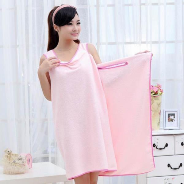원피스형 샤워 가운(핑크)