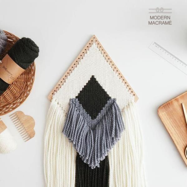 마크라메 재료 다이아몬드 모양 위빙틀 소형/대형