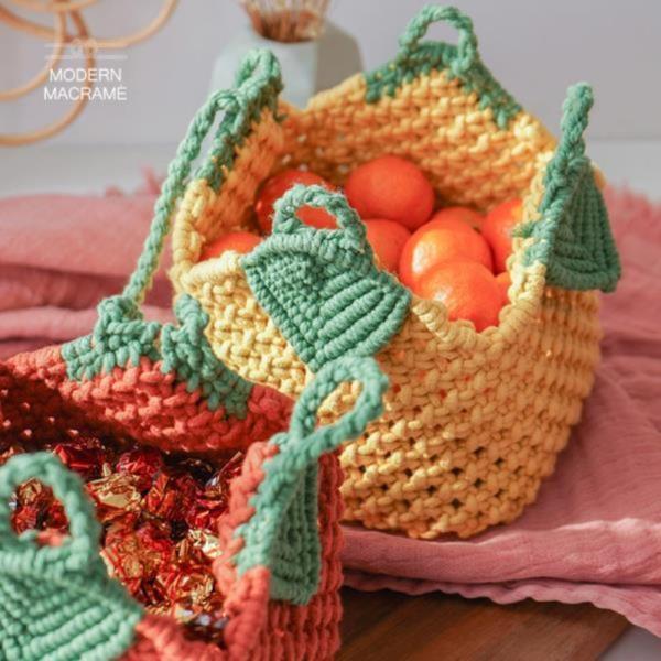 과일 가방 만들기 DIY 3컬러 토트백 마크라메 재료