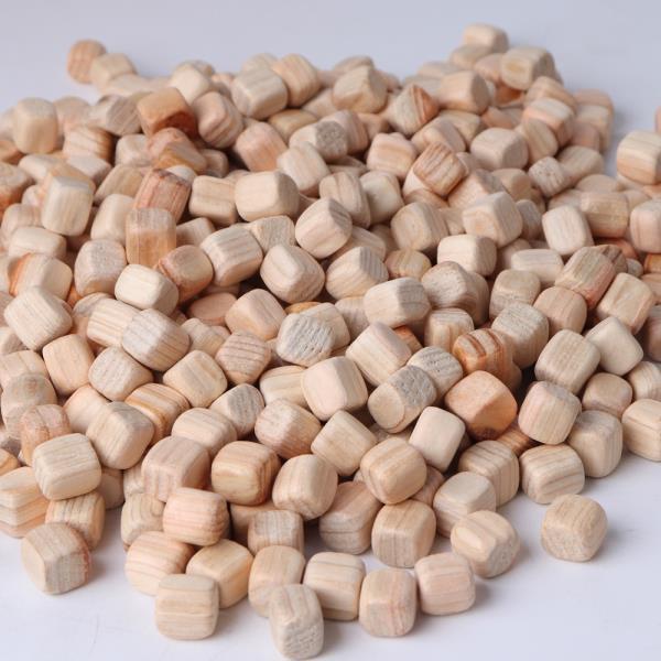 순수편백나무사각칩 놀이방큐브 10mm 1kg