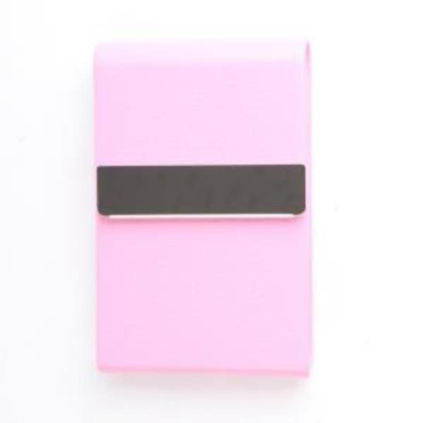 컬러가죽 자석 담배명함케이스 핑크 담배파우치 담배지갑 담배수납케이스 명함지갑 명함보관