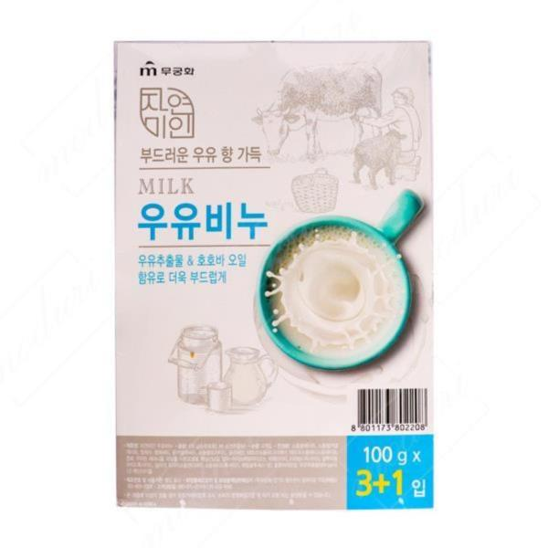 무궁화 자연미인 우유비누 4p 세안 화장 욕실용품