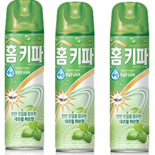홈키파 허브향 수성 모기 스프레이 3개 모기살충제