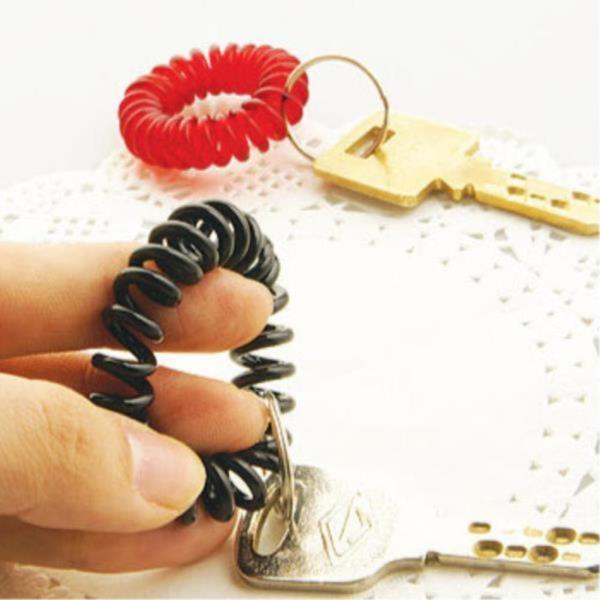 스프링 분실방지 손목줄 열쇠고리 3개 사무실 방키