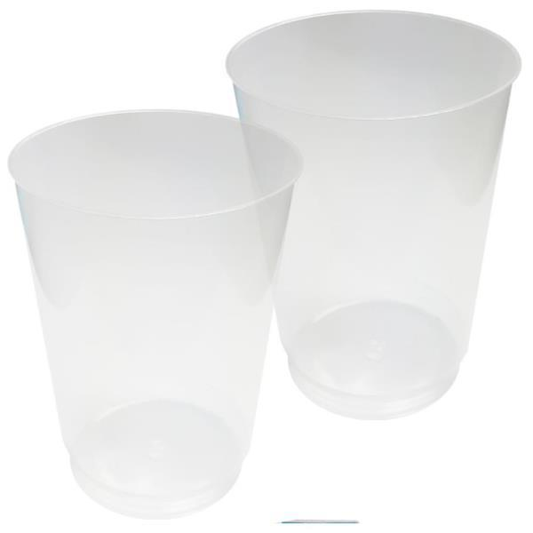 우유 커피 음료수 캠핑 다회용 투명컵 10개