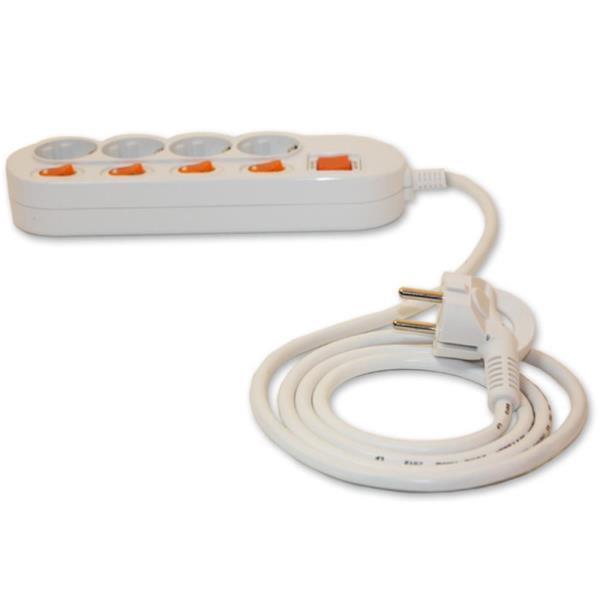 개별 스위치 전기절약 멀티탭 4구 콘센트 공구용품