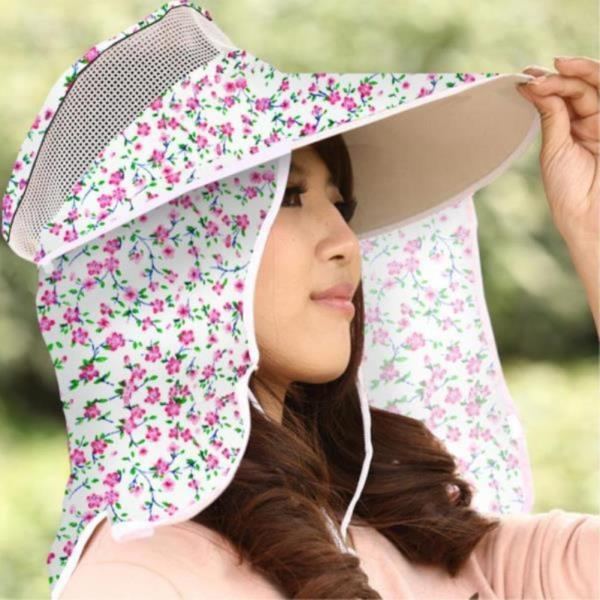 여성용 썬캡 자외선 차단 밭일 모자 낚시 야외활동