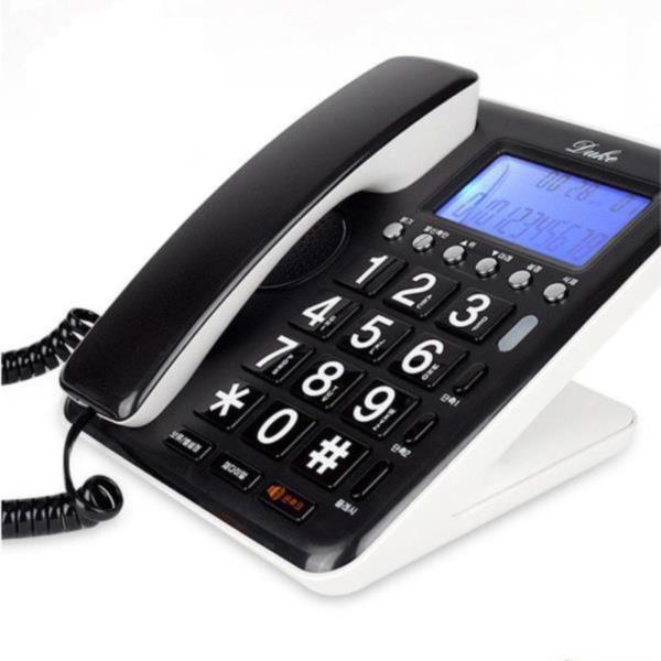 한글 유선 가정집 전화기 LCD 빅버튼 사무실 집전화
