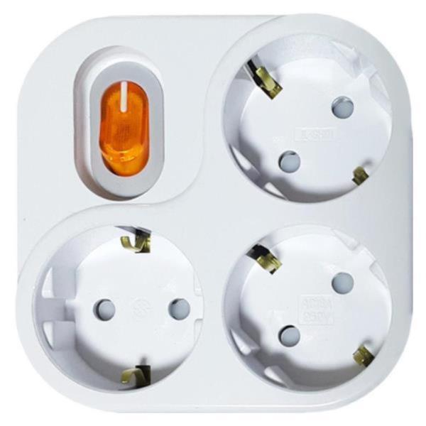 사각 스위치 멀티탭 3구 전기 콘센트 사무용 생활용품