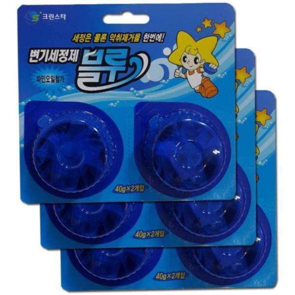 화장실 악취제거 변기세정제 블루 6알 좌변기세정제